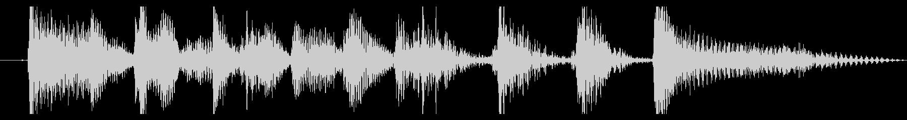 アコギのロックンロールなジングルの未再生の波形