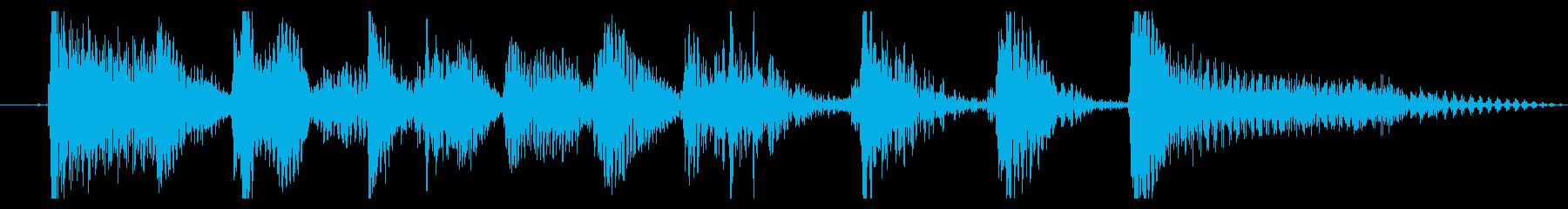 アコギのロックンロールなジングルの再生済みの波形