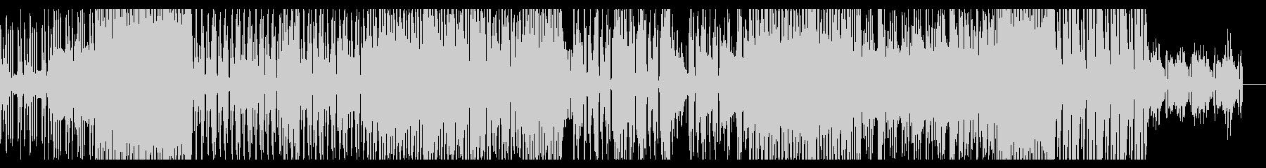 不気味な雰囲気のテクノBGMの未再生の波形