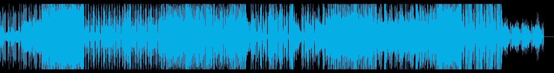 不気味な雰囲気のテクノBGMの再生済みの波形