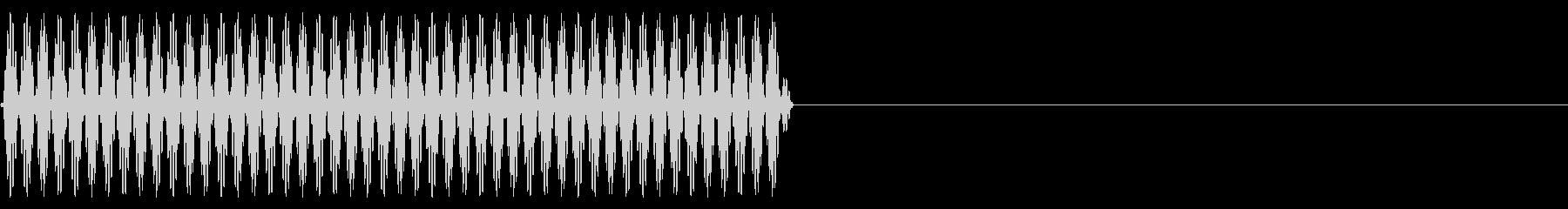 『ピッ』電話のプッシュ音(0)-単音の未再生の波形