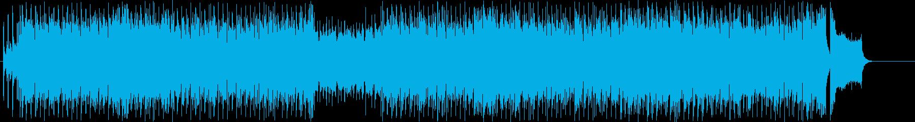 楽観的で奔放なデジタルポップスの再生済みの波形