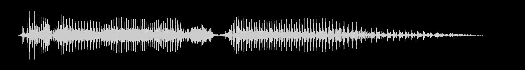 シニア男性A:わかりませんの未再生の波形