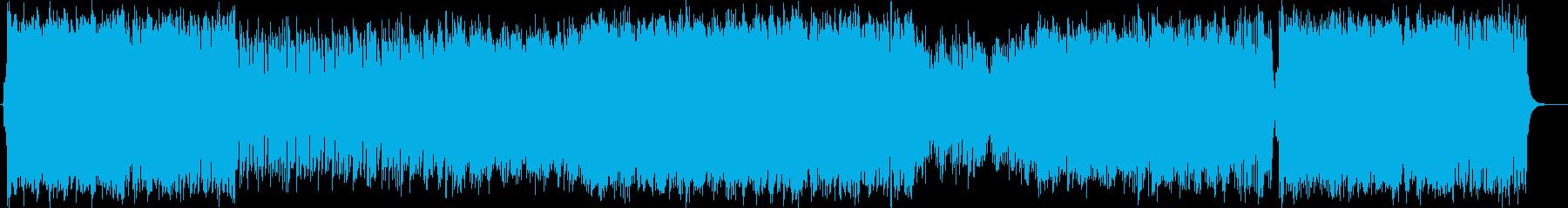 輝かしく煌びやかなミュージックの再生済みの波形