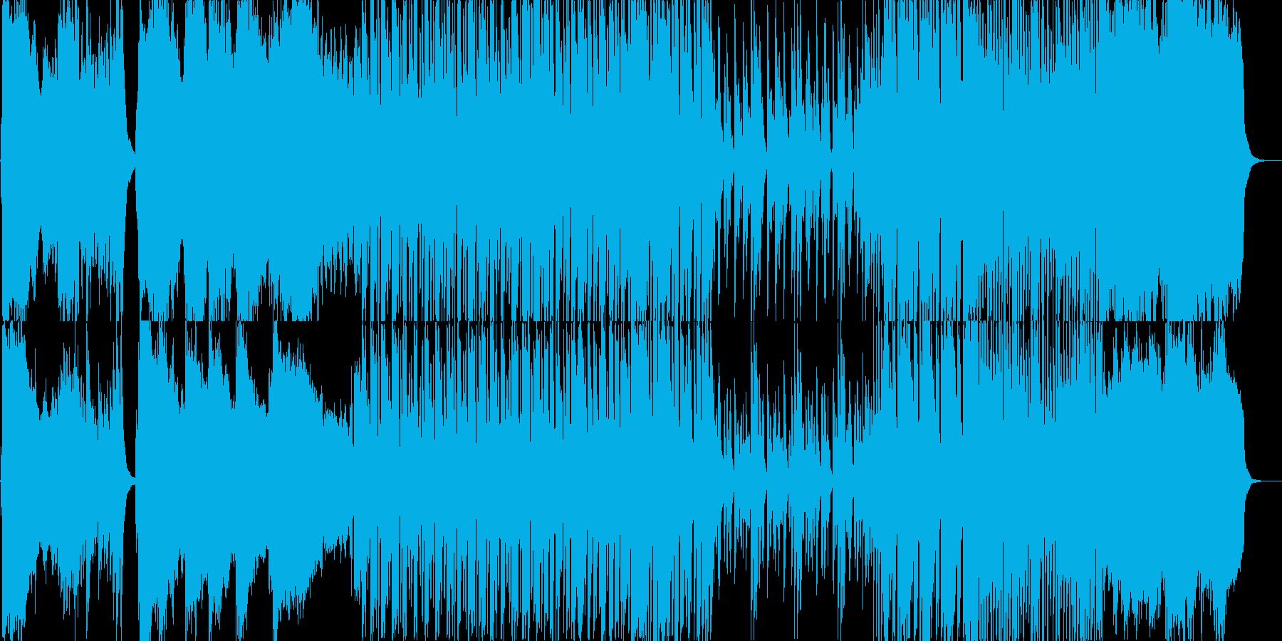 ピアノと室内楽風のコミカルなBGM2の再生済みの波形