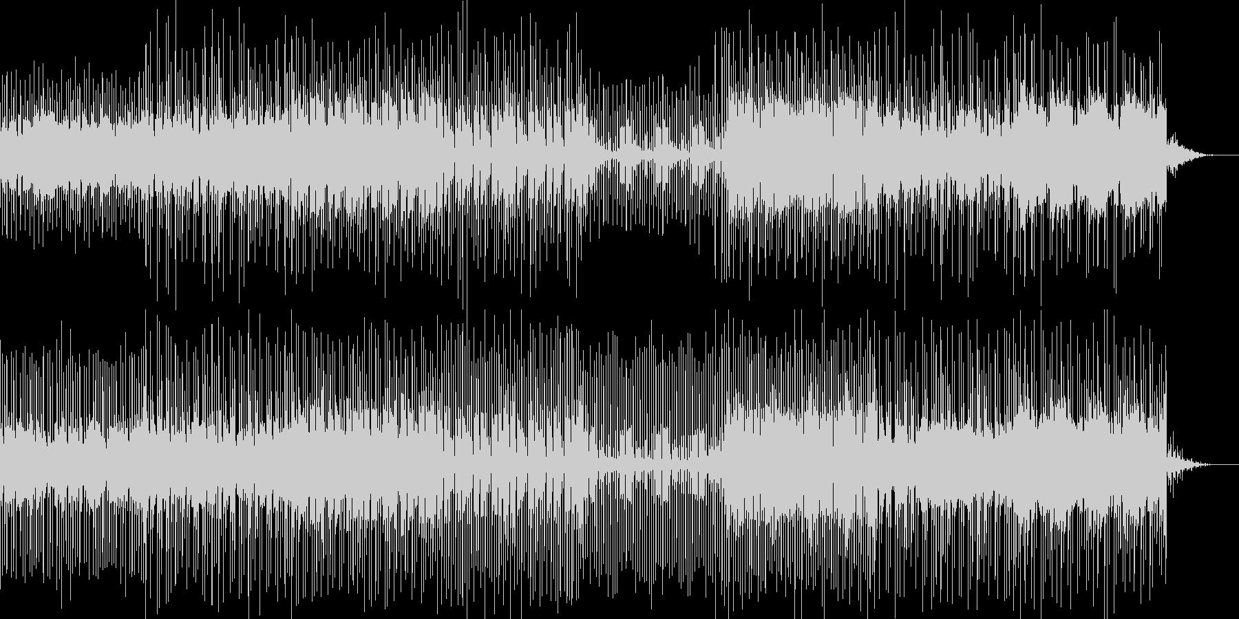 8bit風のピコピコ音と走り抜けるリズムの未再生の波形