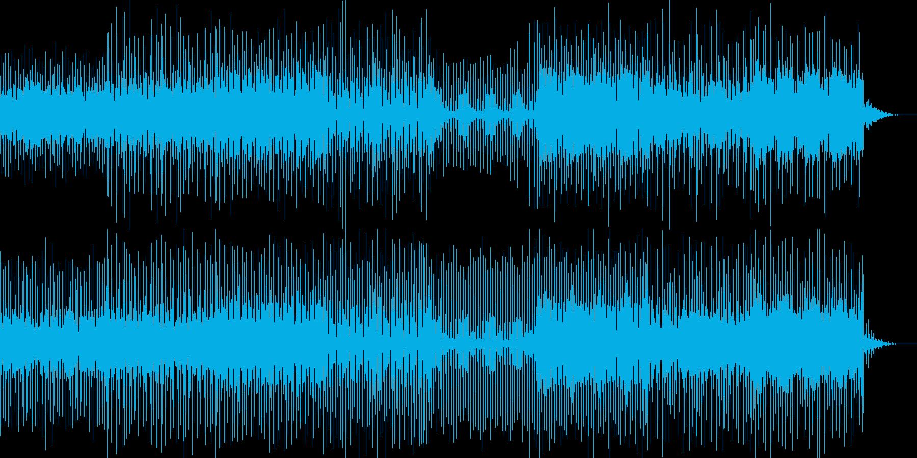 8bit風のピコピコ音と走り抜けるリズムの再生済みの波形
