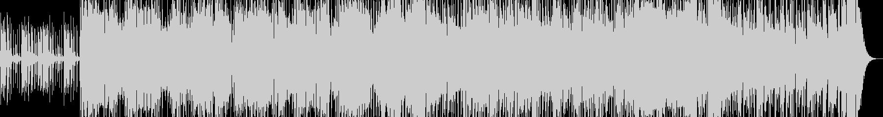 スリル感のあるファンクロックの未再生の波形
