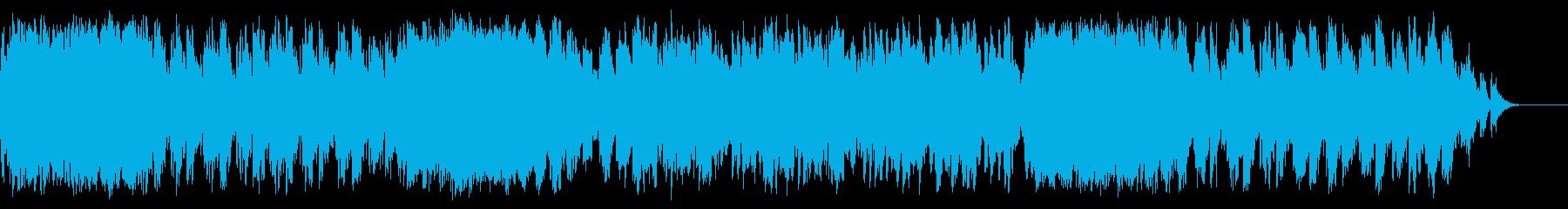 メリーゴーランドのような3拍子のインストの再生済みの波形