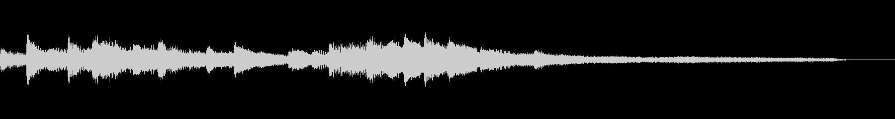 冷たい和風ジングル58-ピアノソロの未再生の波形