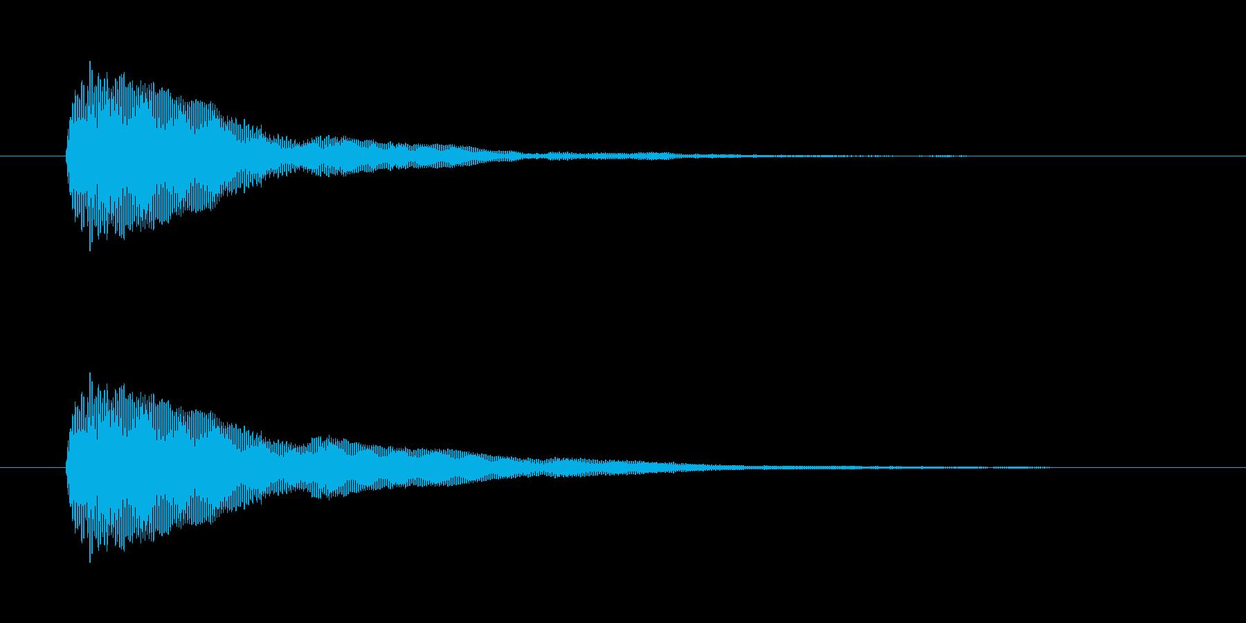 シンプルなボタン音3(ポン)の再生済みの波形