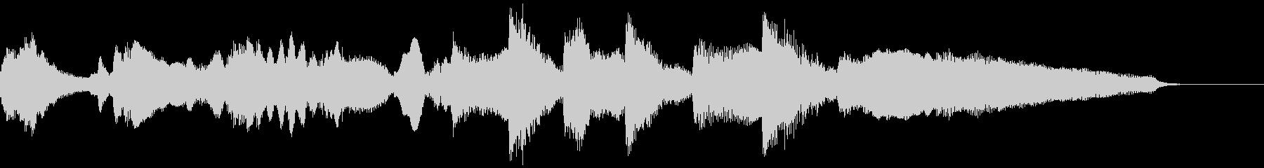 ピアノとチェロのジングル・アイキャッチの未再生の波形