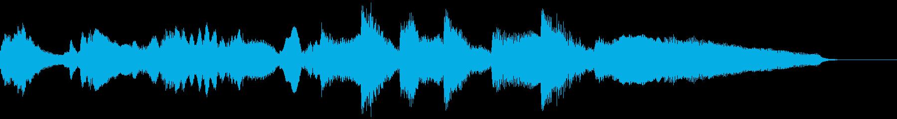ピアノとチェロのジングル・アイキャッチの再生済みの波形