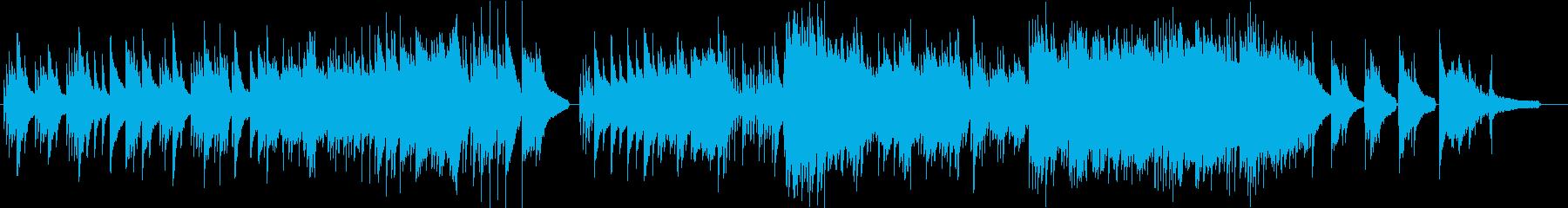 オリエンタルでメロディアスなピアノソロの再生済みの波形