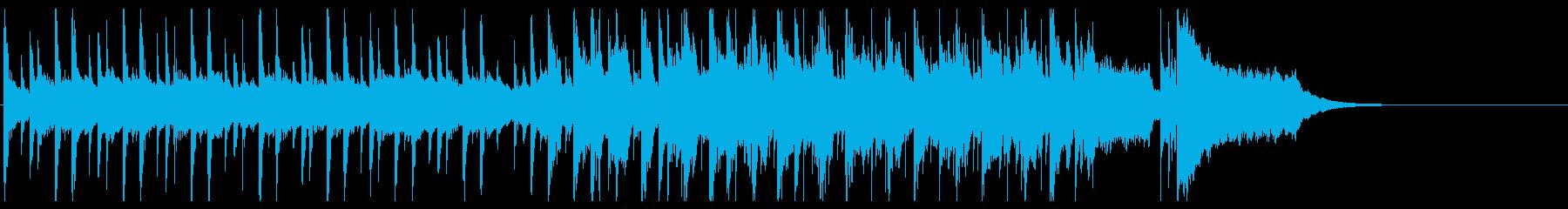 レシピ動画のお菓子をイメージしたインストの再生済みの波形