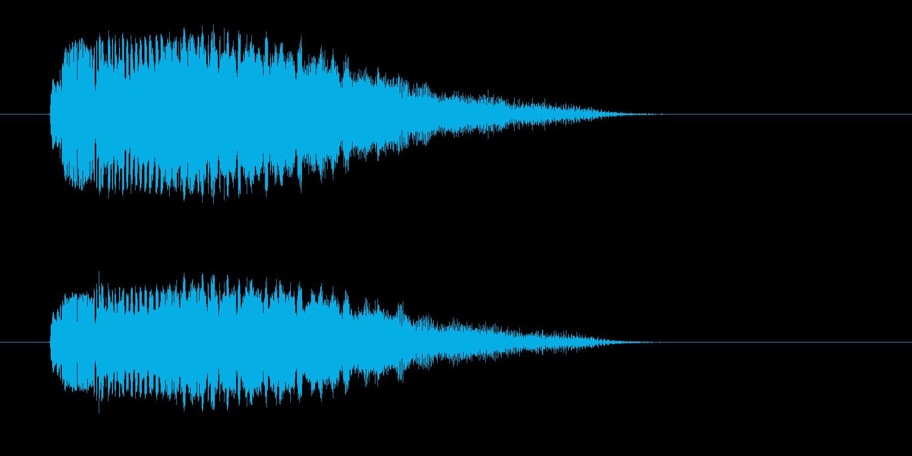ピユーン↓(素早く通過するUFO飛行音)の再生済みの波形