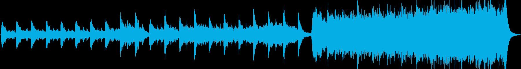 オーケストラ 心に強く訴える 音楽の再生済みの波形
