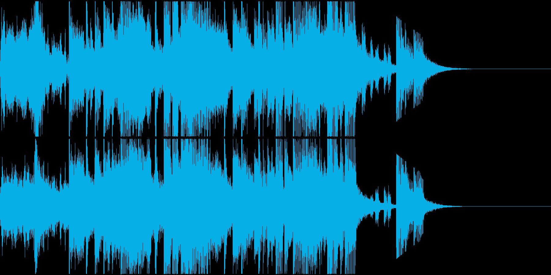 前向き!ファンキーでポップな15秒SEの再生済みの波形