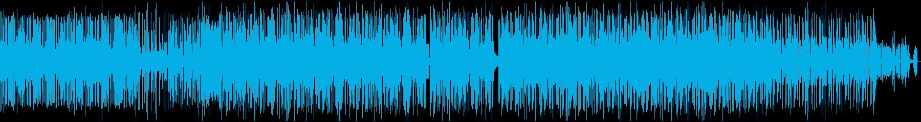 跳ねてスピード感のあるPV的なBGMの再生済みの波形