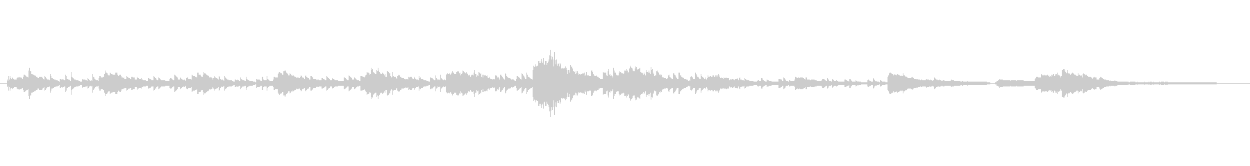 キラキラ軽やかなピアノの未再生の波形