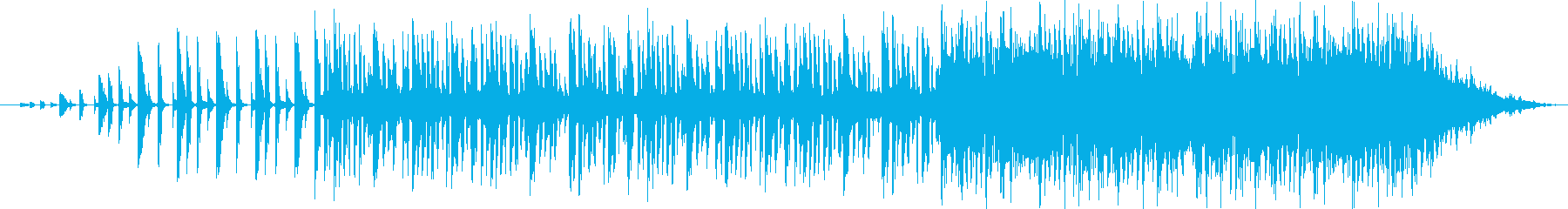 ローランド808ドラムサウンドと催...の再生済みの波形