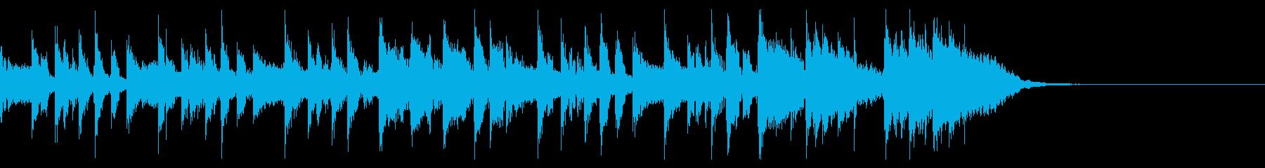 ギターのおしゃれなジングルの再生済みの波形