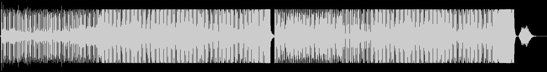 クールかつシンプルなテクノ、ループ利用可の未再生の波形