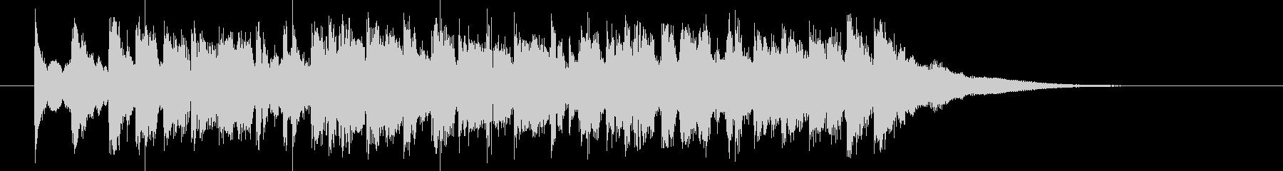 緩やかで煌きのあるシンセポップジングルの未再生の波形