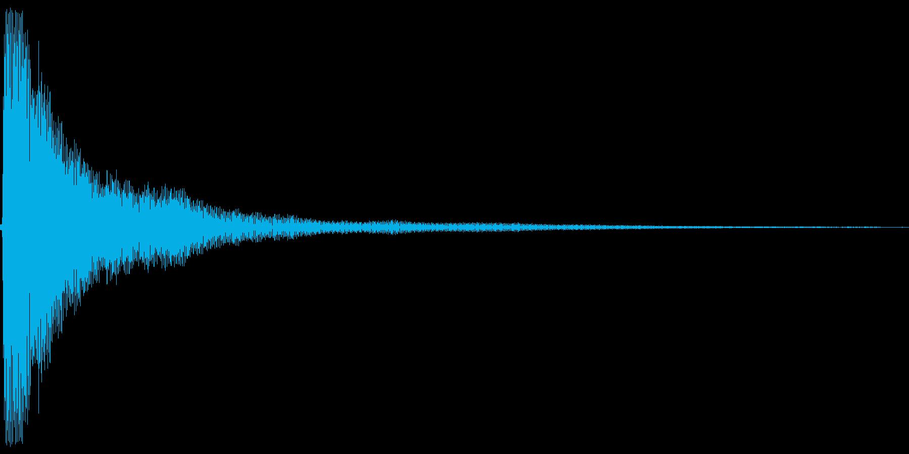 カーン。しらける・すべる音(高め)の再生済みの波形