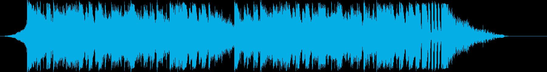 躍動感EDMダンスエレクトロダブステップの再生済みの波形