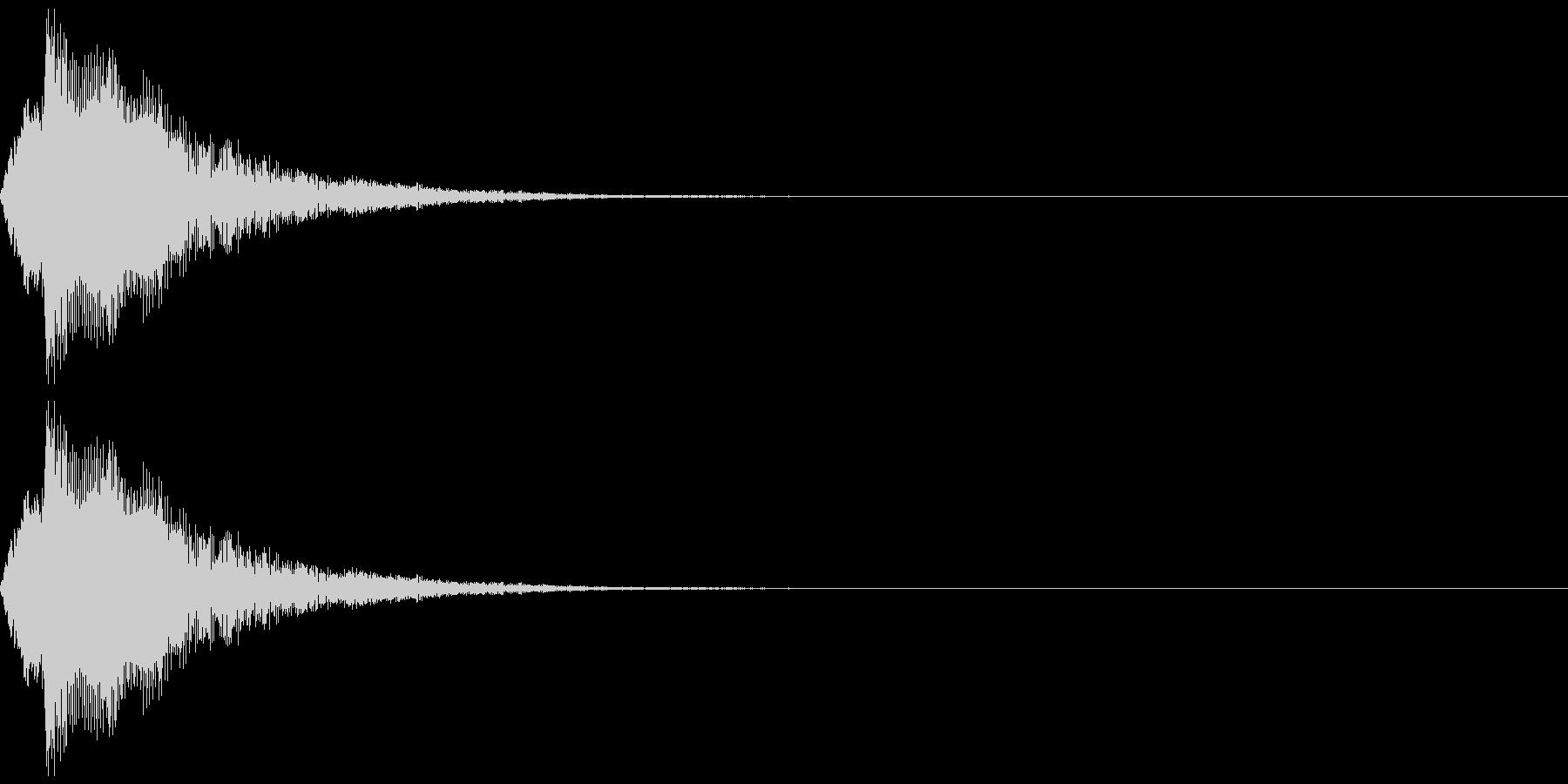 タップ、クリック(パンフルート下降)の未再生の波形