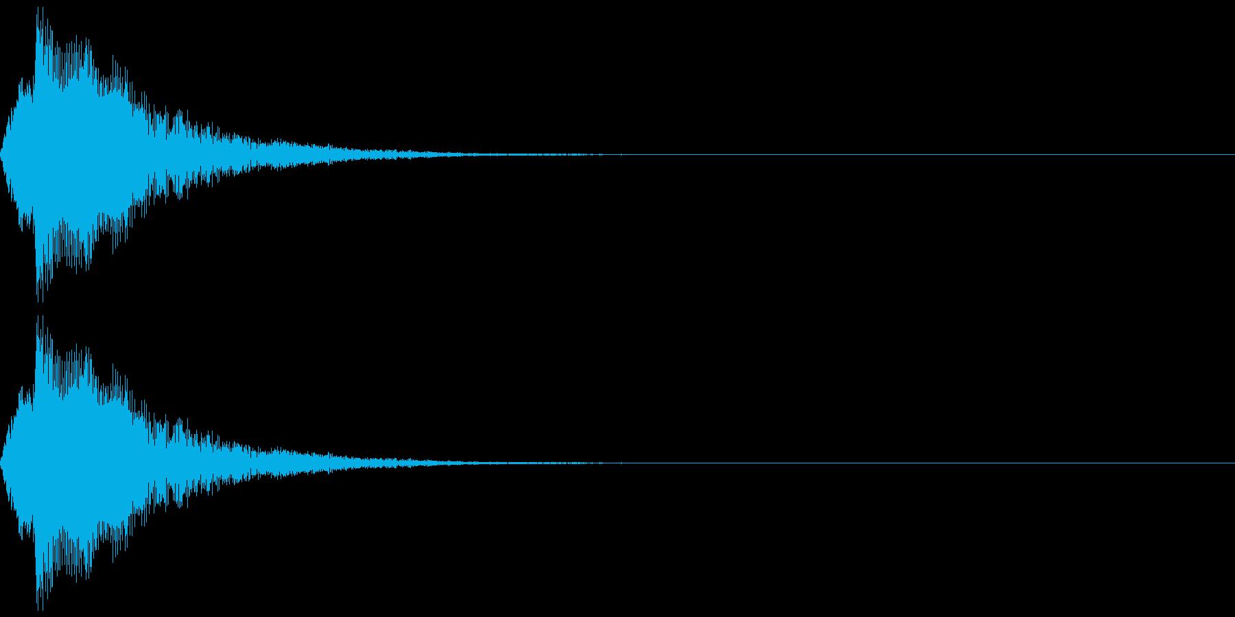 タップ、クリック(パンフルート下降)の再生済みの波形