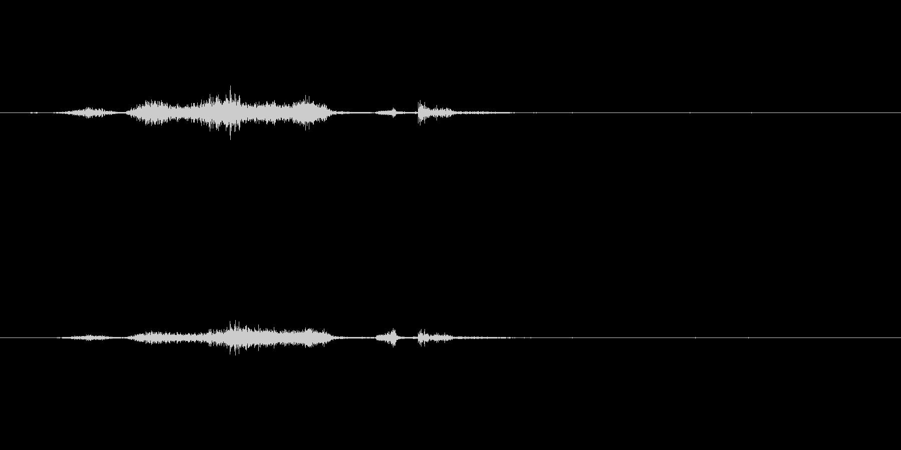 ページをめくる音(シュー)の未再生の波形