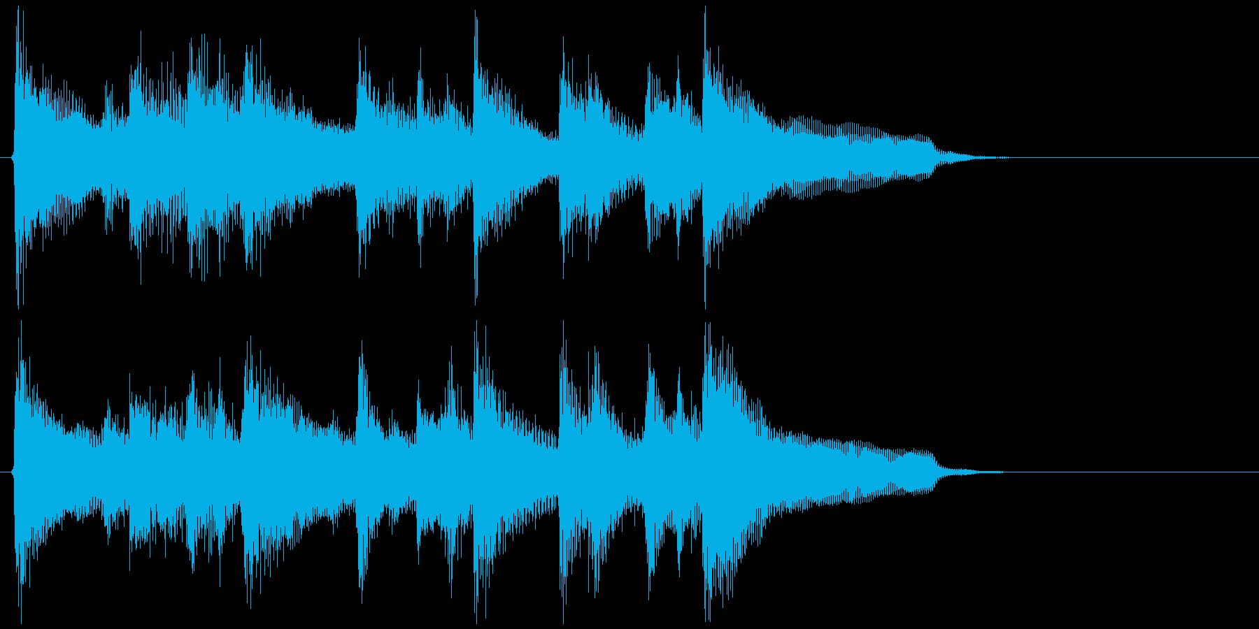 ウクレレ、ミディアムテンポ爽やかジングルの再生済みの波形