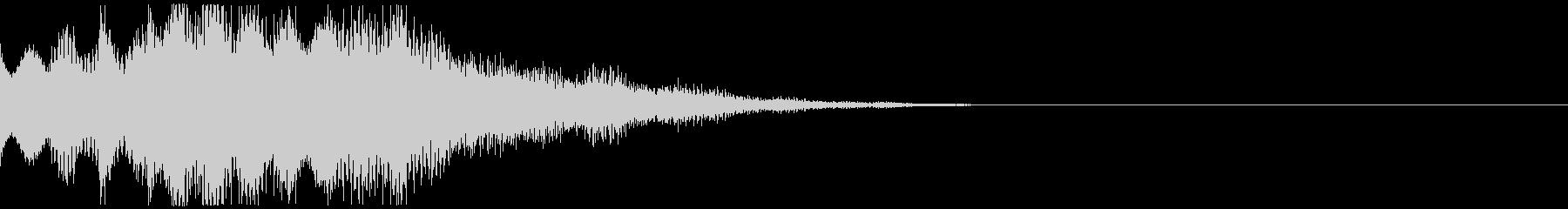 シンセベルとパッドがメインのジングルの未再生の波形