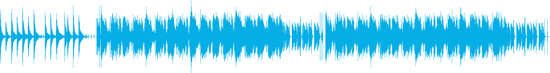 まったりとした印象のポップスの再生済みの波形