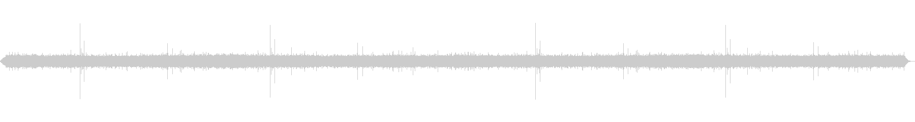 雨の音(少し強め)(ザー、ピチャピチャ)の未再生の波形