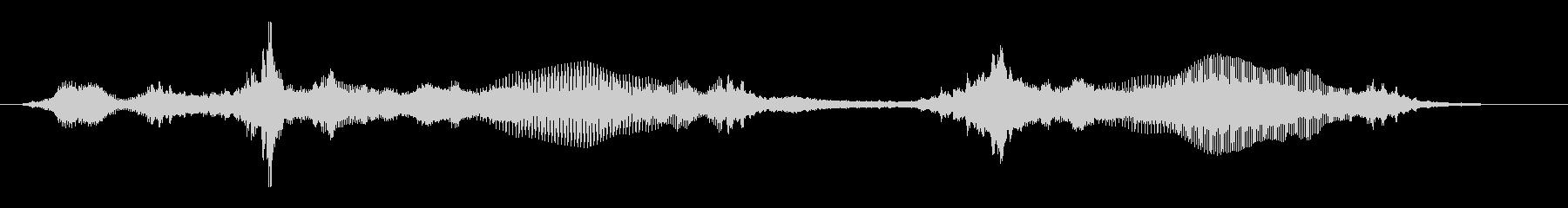 不穏(うおおおおん)低音のうなりの未再生の波形