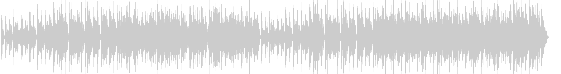 ウキウキ・陽気・軽快・明るい・ピアノの未再生の波形
