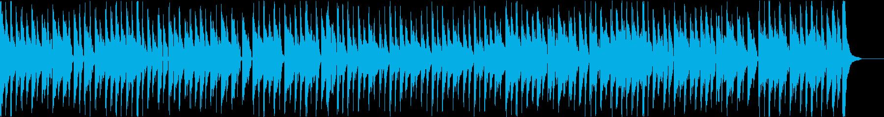 口笛とウクレレの楽しくコミカルで軽快な曲の再生済みの波形