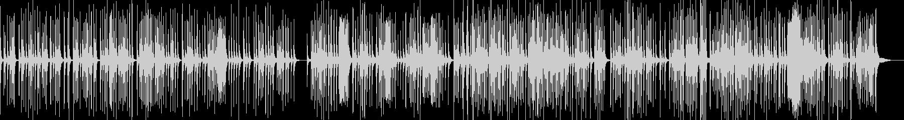 筝曲の雰囲気の和風BGMの未再生の波形
