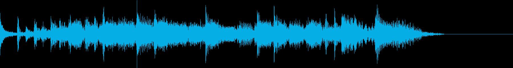 明るい疾走感の定番ロックンロールジングルの再生済みの波形