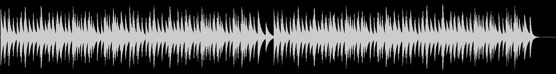 雪 18弁オルゴールの未再生の波形