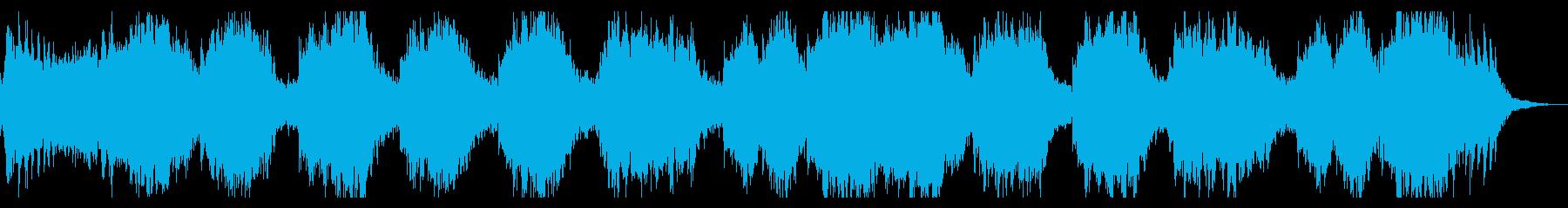 ダークな恐怖感の演出、シネマチックBGMの再生済みの波形