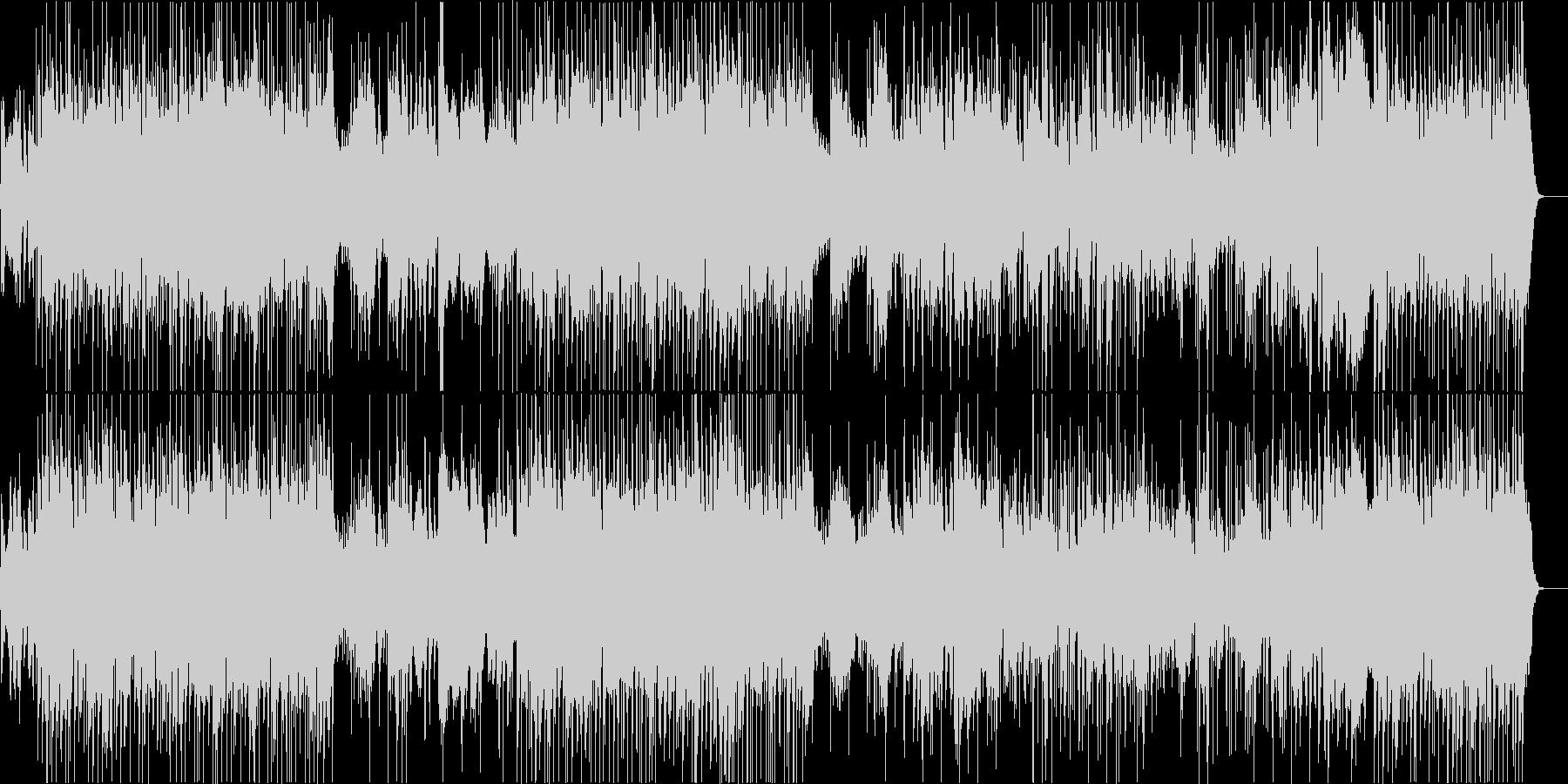 サーカス風のキラキラした質感のBGMの未再生の波形