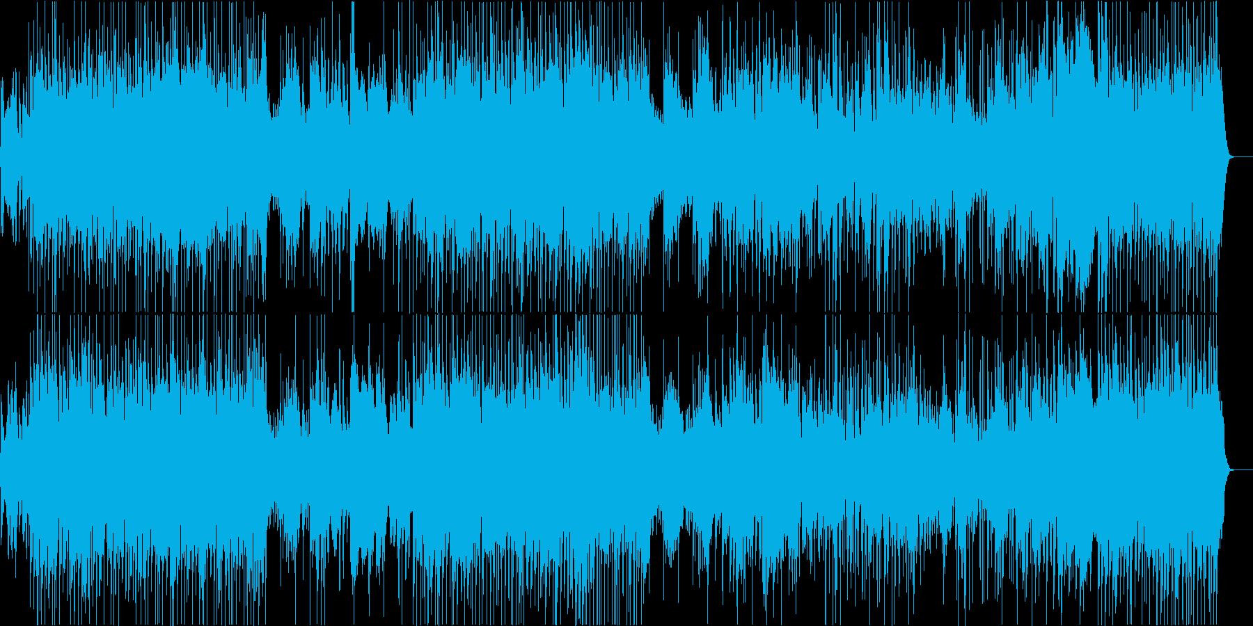 サーカス風のキラキラした質感のBGMの再生済みの波形