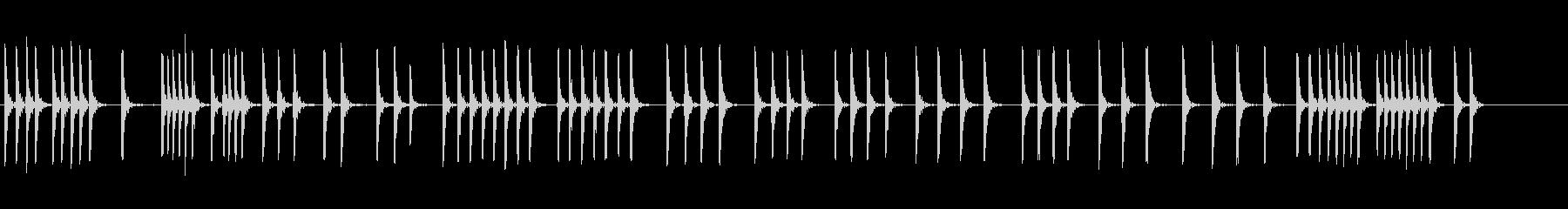 ハンマーが石を打つの未再生の波形