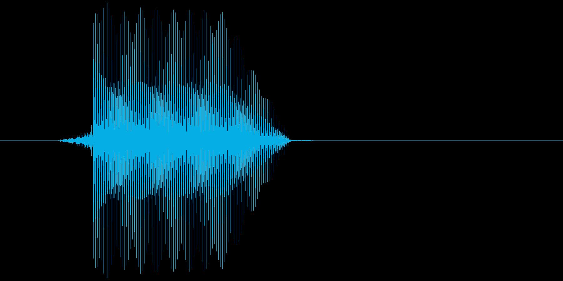ゲーム(ファミコン風)セレクト音_017の再生済みの波形