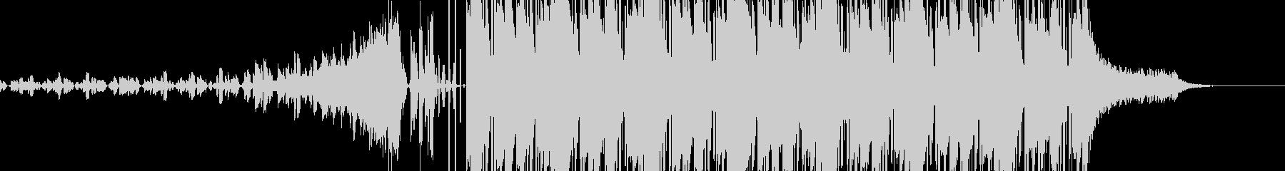 緊張感のある激しいBGMの未再生の波形