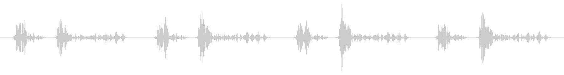「ドクン!」心臓心拍、鼓動音ループ可能1の未再生の波形